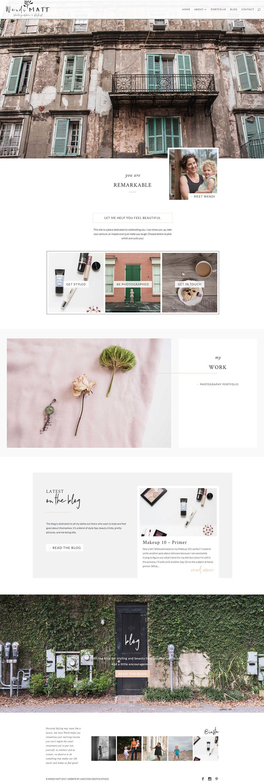 Website Design for Greenville Photographer and Stylist Wendi Matt
